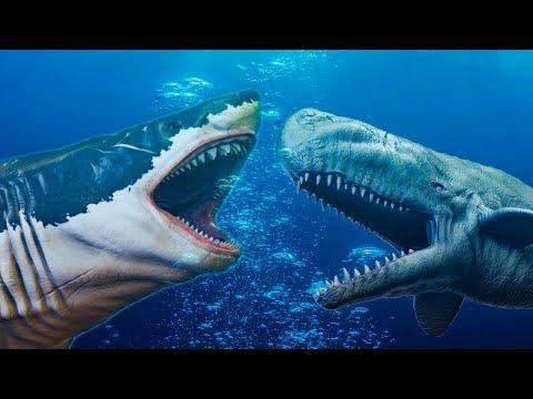 Битва Самых Больших Акул в Мире Мегалодон Против Левиафана