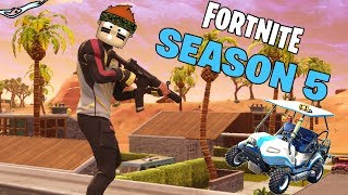 FORTNITE SEASON 5 MAP EXPLORING! *NEW VEHICLES*