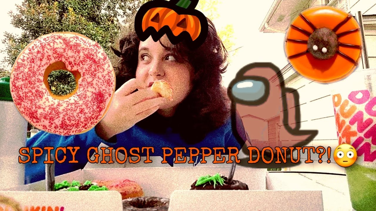 SPICY GHOST PEPPER DONUTS?! 👻🌶️ New Dunkin Halloween Donuts Review