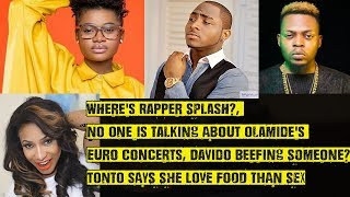 No One Is Talking About Olamides Europe Concerts Davido Beefing Someone Wheres Rapper Splash