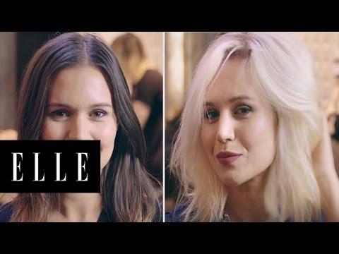 Brunette To Butter Blonde | Beauty Dare | ELLE