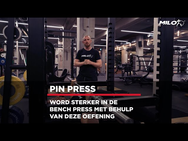 Word sterker in de Bench Press met de Pin Press!