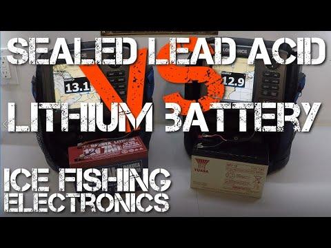 Lithium vs SLA - Ice Fishing Battery Test