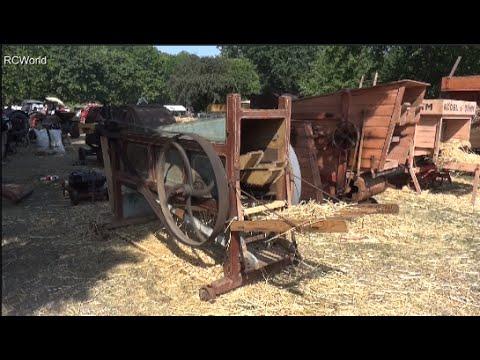 Historische Landmaschinen Lanz Bulldog Treffen 2015 Leipzig AGRA Dampf Diesel Dreschmaschine