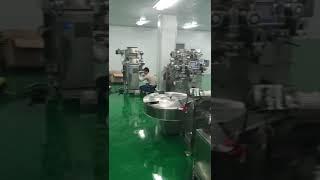 Machines in factory, mochi steaming machine, encrusting machine
