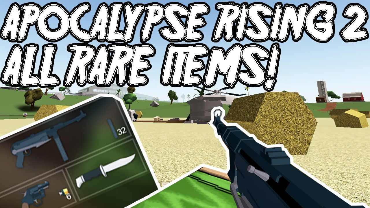 Apocalypse Rising 2 All Rare Items Weapons And Clothes