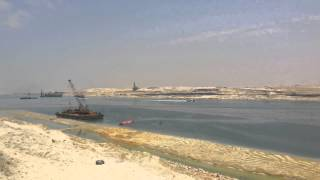 New Suez Canal: gorgeous scenery for the new Suez Canal and queue dredgers June 2, 2015