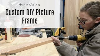 How to Make a Custom DIY Picture Frame Video