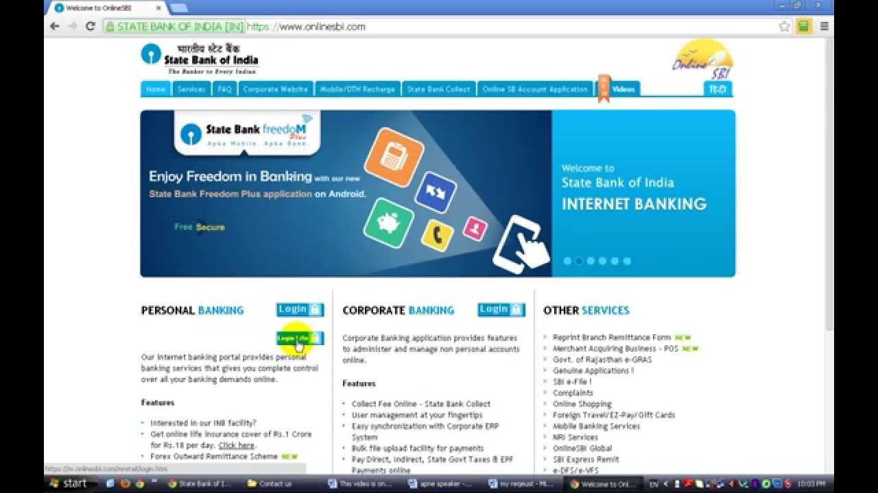 Internet banking me bank account ka online account statement kaise create kar sakte hai ...