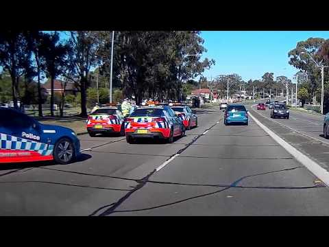 responding police cars ambulances emergency vehicles dashcam compilation Sydney part2