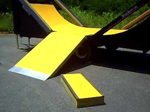 Mobile 1 2 pipe mini skate park rental youtube - Skateboard mobel ...