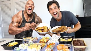 JOSH PECK EATS THE ROCK'S CHEAT MEAL