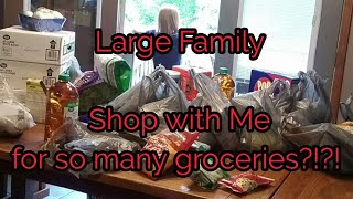 Large family SHOP with me for so many GROCERIES?!?!?