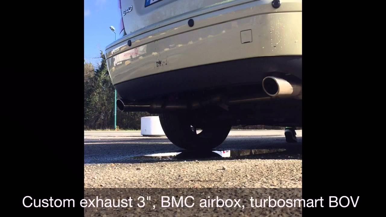 Volvo S40 t5 awd stock vs custom exhaust