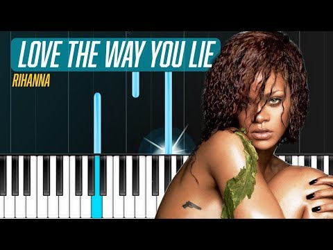 "Rihanna - ""Love The Way You Lie"" Piano Tutorial - Chords - How To Play - Cover"