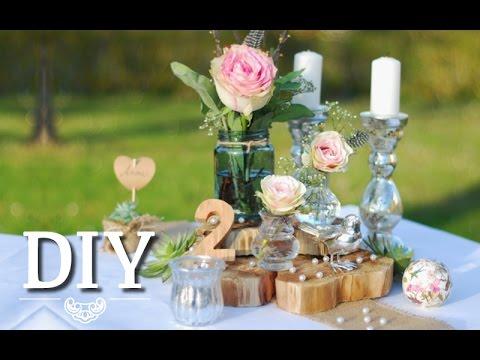 DIY Hochzeitsdeko romantischrustikal selber machen