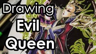 Evil Queen Drawing makeover COPIC speedpaint
