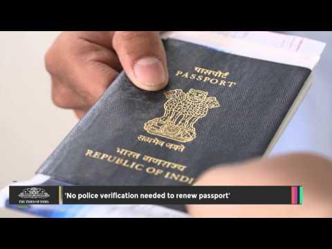'No Police Verification Needed to Renew Passport'