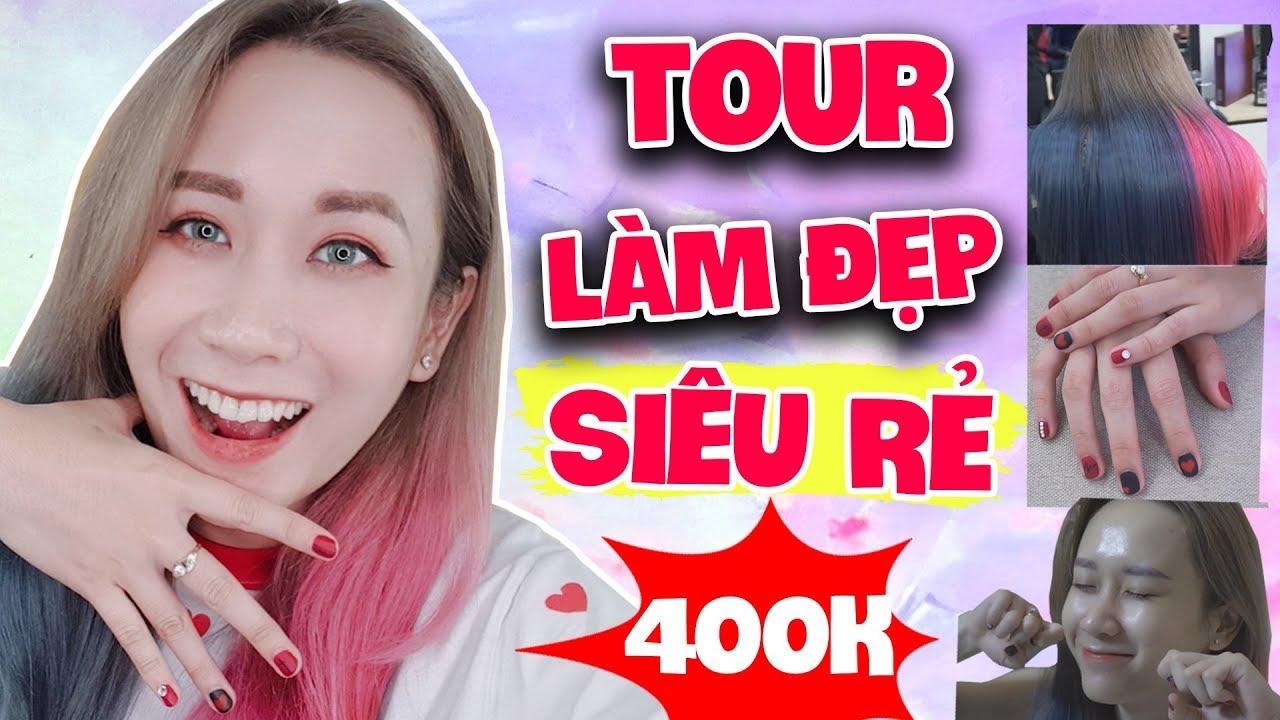 TOUR LÀM ĐẸP SIÊU RẺ VỚI 300K TỪ ĐẦU ĐẾN CHÂN | $15 BEAUTY TOUR | HƯƠNG WITCH