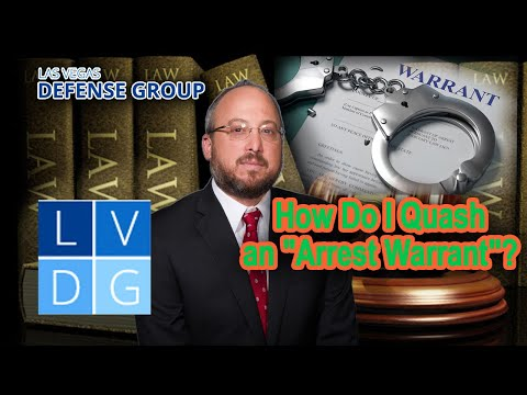 "How do I ""quash an arrest warrant"" in Nevada?"