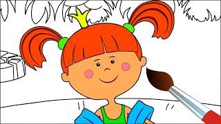 Хочу на море - Мультик Раскраска с Царевной - Учим цвета - Жила была Царевна