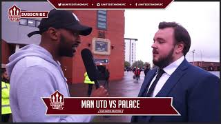 Manchester United Fan Sam Tarly from Game of Thrones FanCam! Man Utd 4-0 Crystal Palace
