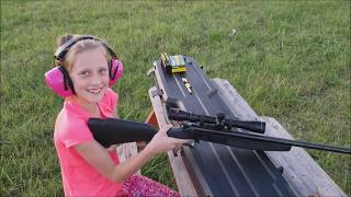 Girl Shoots Rifle For The First Time CVA .223