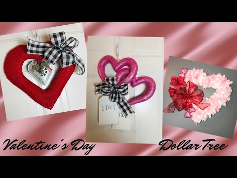 how-to-make-3-easy-and-inexpensive-valentine's-day-wreaths-dollar-tree-❤️