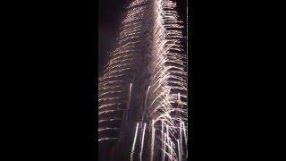 Fireworks on Burj Khalifa New Year 2016 Dubaj IPhone 6s 4K