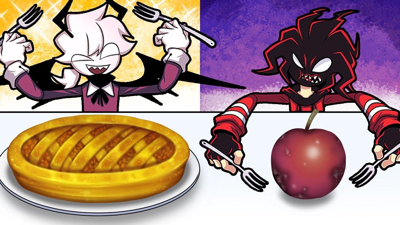 Good food VS Bad food Challenge Apple pie Friday Night Funkin Mukbang Animation