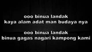 LAGU DAYAK PANTUN BINUA LANDAK ofical lirik by mario rinyuakng