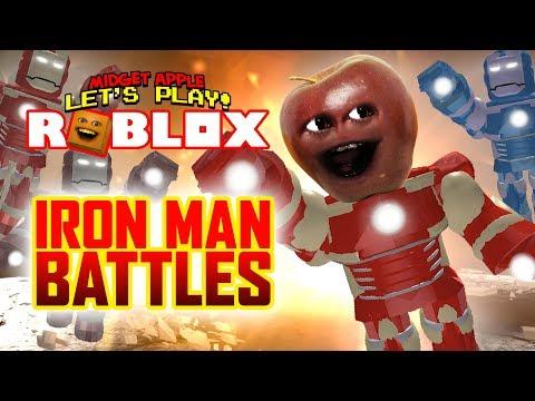 Roblox: IRON MAN BATTLES [Midget Apple Plays]