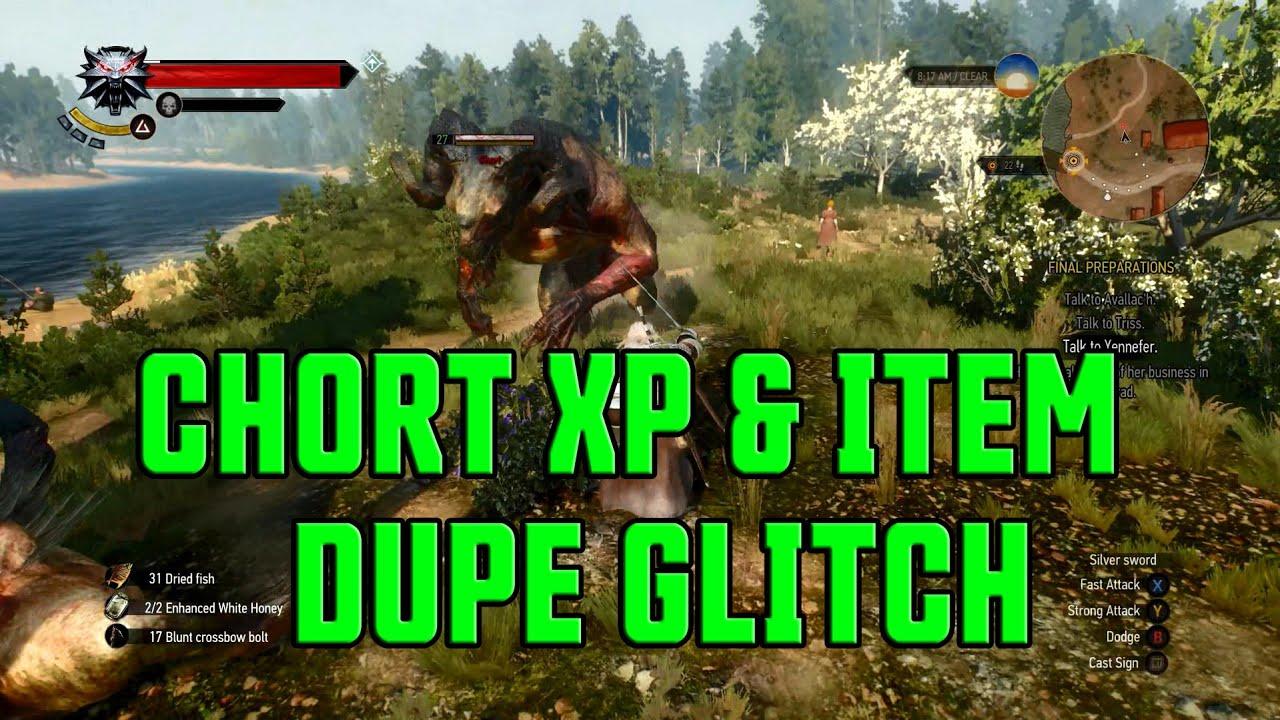 The Witcher 3 Glitches - Chort XP & Item Dupe Glitch