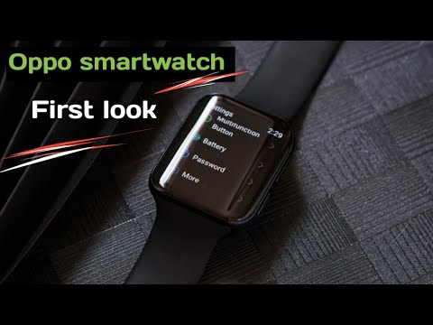Oppo smartwatch first look and display    oppo smartwatch 2020    oppo smartwatch