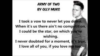 Army of Two by Olly Murs lyric