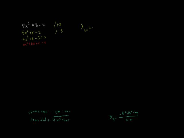 Másodfokú egyenlet megoldóképletének levezetése (2. rész)