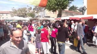 Flash mob à Joyeuse avec l'équipe Willy & Co