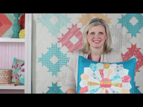 Sundance Dresden Pillow Tutorial Featuring Creative Grid Dresden Plate Ruler - Fat Quarter Shop