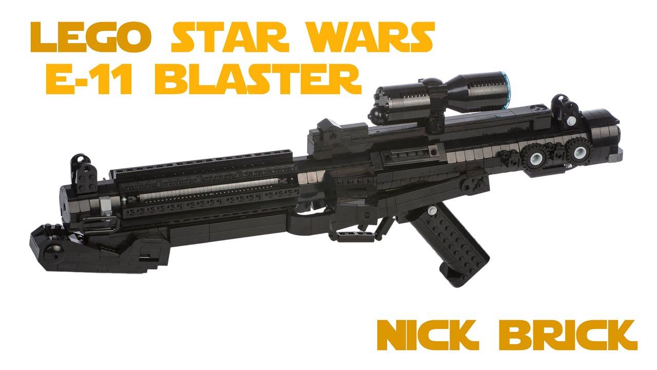 lego e-11 blaster rifle - star wars battlefront - youtube