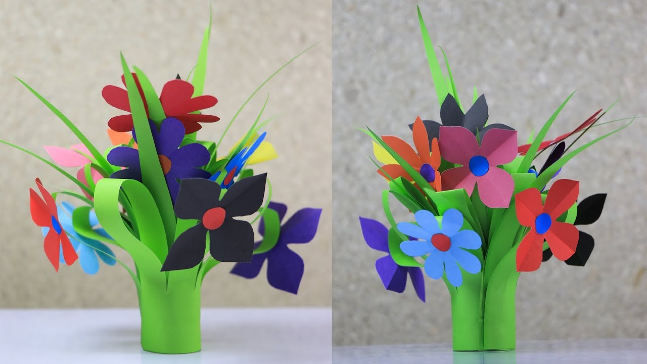 Flower bouquet how to make a beautiful paper flower bouquet for flower bouquet how to make a beautiful paper flower bouquet for room decoration izmirmasajfo