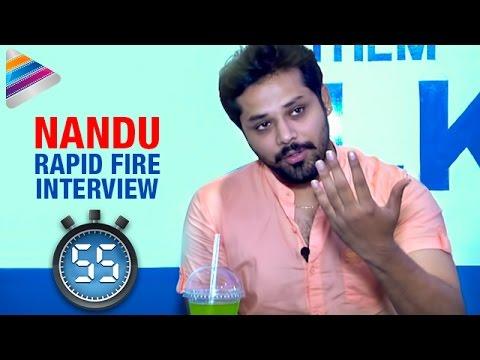 Chiranjeevi is My Favorite Hero says Actor Nandu | Rapid Fire | Interview | Telugu Filmnagar