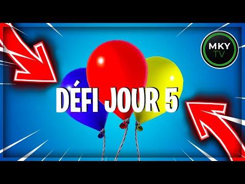 ÉCLATER LES BALLONS DÉCORATIFS - SOLUTION DÉFIS N°5 FORTNITE SUMMER