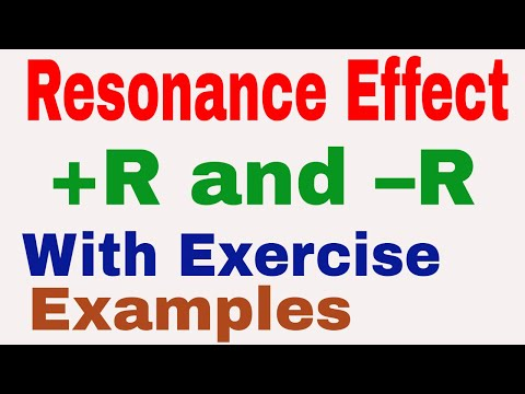 Resonance Effect || +R and -R || Conjugation System || Resonance Hybrid || Reaction Mechanism