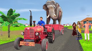 ट्रैक्टर Tractor Hindi kahaniya हाथी की कहानी Hindi moral stories Bedtime Moral Stories Fairy Tales