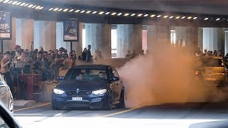 BMW M3 Busted by the Police after doing a Burnout in Monaco !!