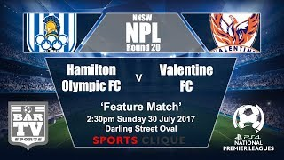 Hamilton Olympic vs Valentine Phoenix full match