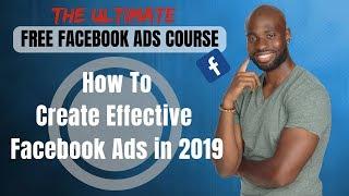 À La Création De Facebook Ads En 2019