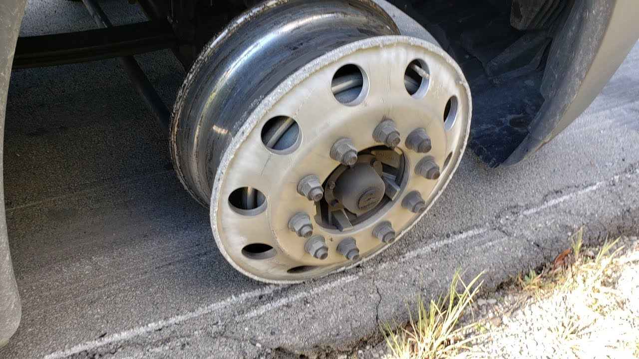 #Owneroperator #trucking What to expect when you blow a steer tire