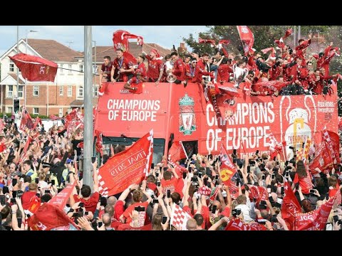 LIVERPOOL TROPHY PARADE CHAMPIONS LEAGUE 2019 Fans View Players View