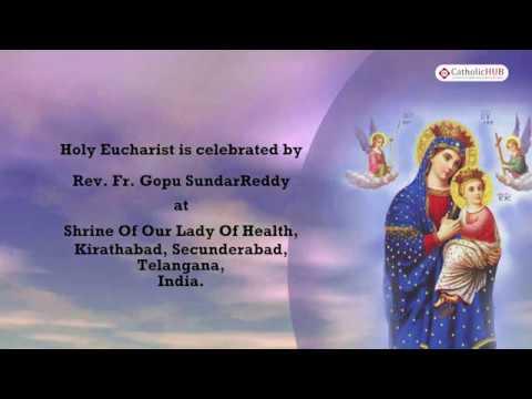 English Mass @ Shrine Of Our Lady Of Health, Kirathabad,Ts,India 29 04 19